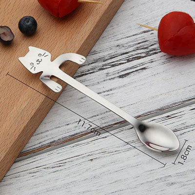STAINLESS STEEL CAT TEASPOONS