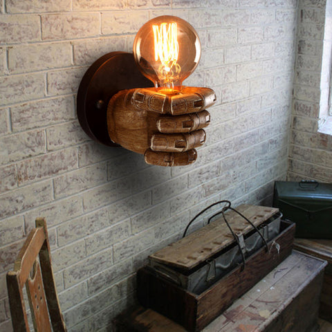 Image of CLASSICAL RESIN FIST WALL LAMPS