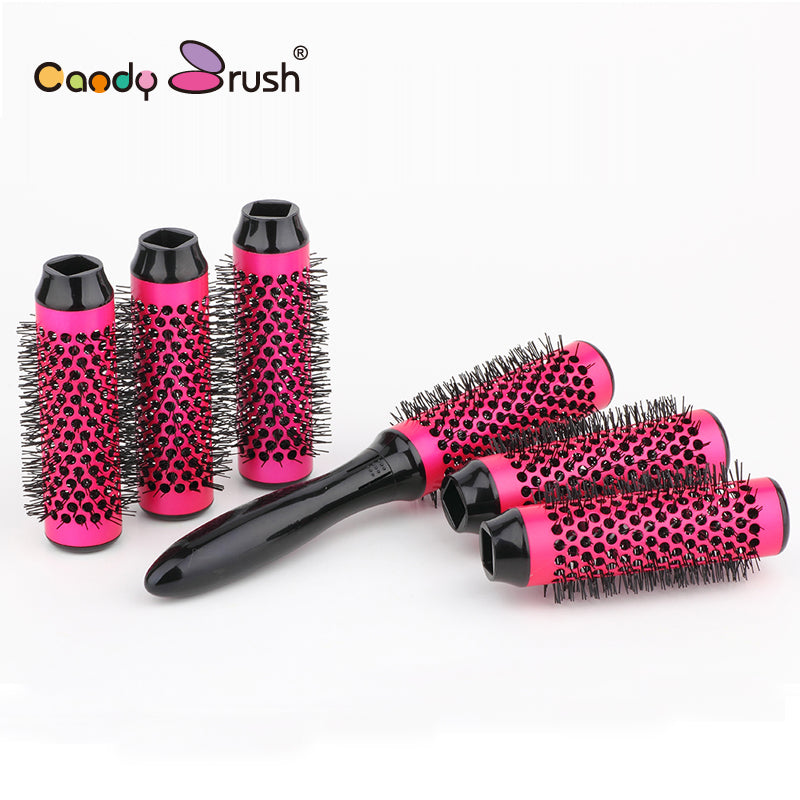 Blow Dry Thermal Hair Brush with Detachable Rollers