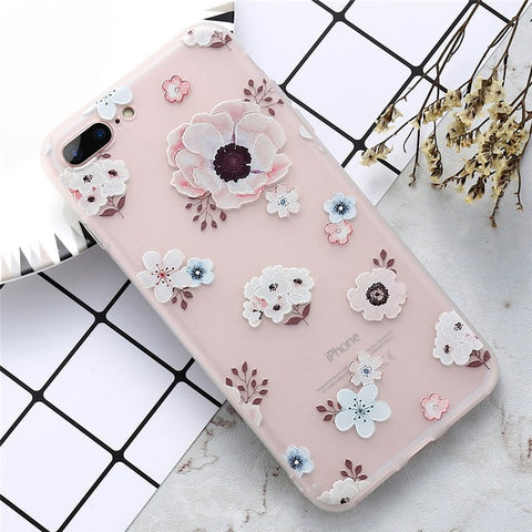 Image of KISSCASE Floral Case For iPhone