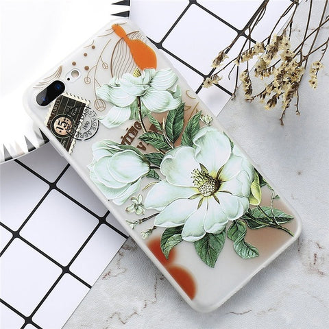 KISSCASE Floral Case For iPhone