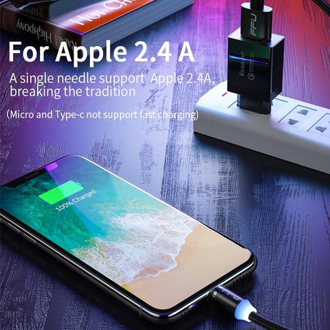 Magnetic Micro USB Cable For iPhone Samsung Android Mobile Phone Fast Charging
