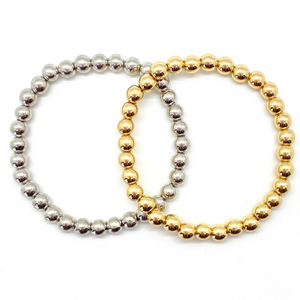 6mm Silver or Gold Stacking Bracelet