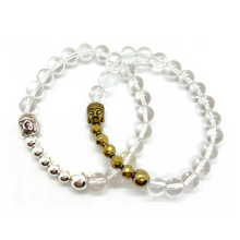 Load image into Gallery viewer, Buddha Clear Quartz Bracelet