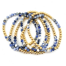 Load image into Gallery viewer, Gold Hematite and Sodalite Party Stack