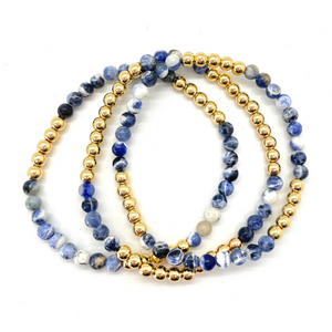 Gold Hematite and Sodalite Party Stack