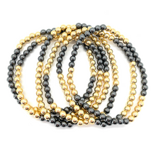 Load image into Gallery viewer, Gold and Gunmetal Silver Hematite Party Stack