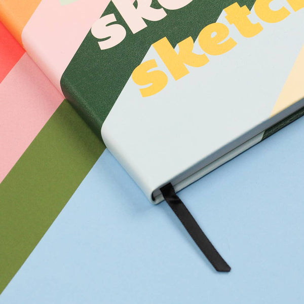 rainbow vintage design sketchbook