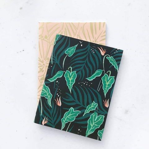green leaves pocket notebooks