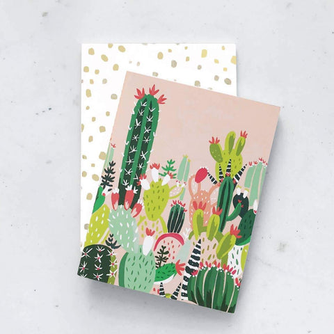 cactus floral pocket notebooks