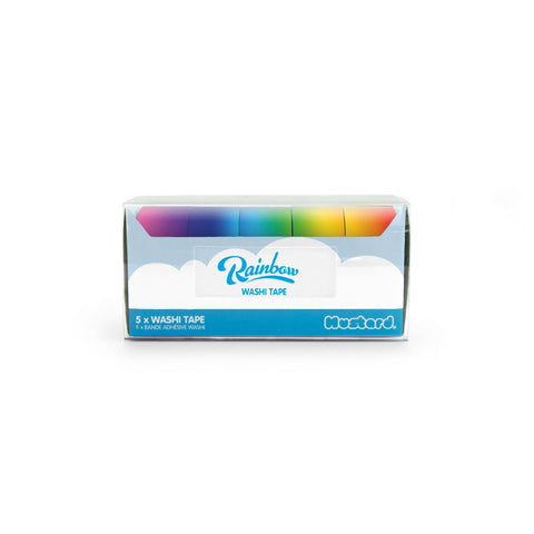rainbow bright color washi tape set
