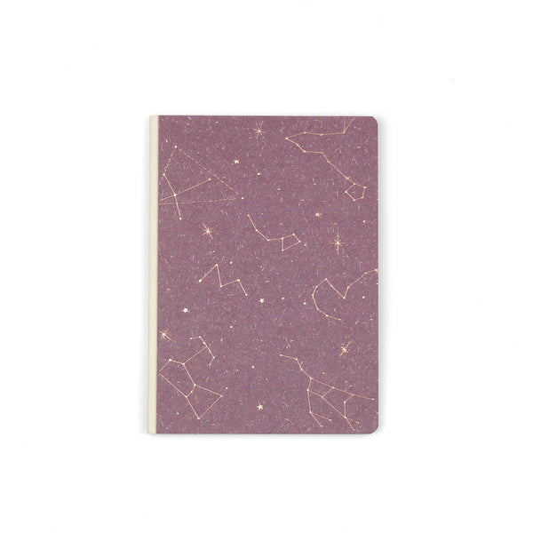 purple gold constellation lined journal