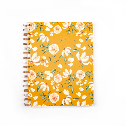yellow floral undated planner