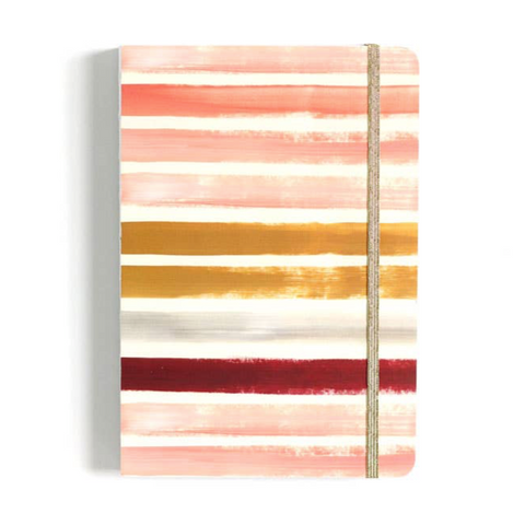 pink orange white stripe sketchbook
