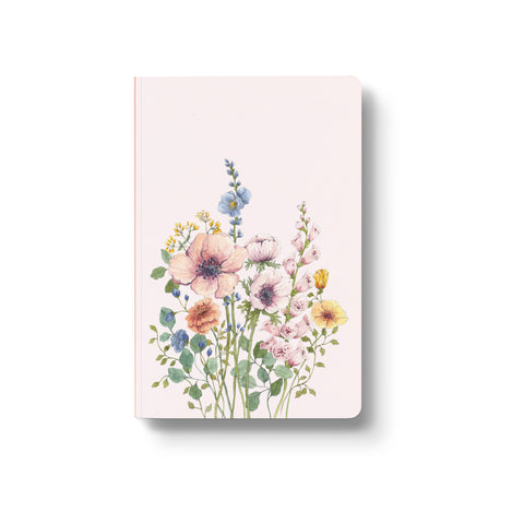 pastel color floral notebook