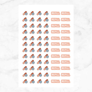 Refill Planner Stickers | 2 Sheets