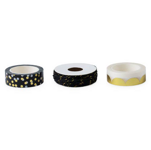 gold black washi tape
