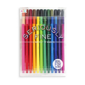 Seriously Fine Felt Tip Markers | Set of 36