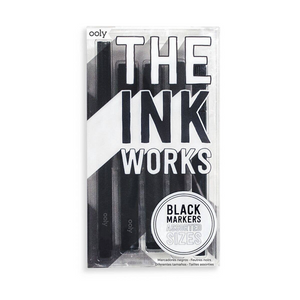The Ink Works Black Markers | Set of 5