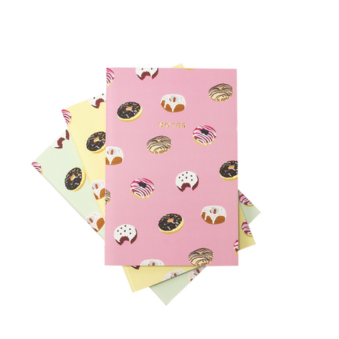Mini Donuts Pattern Notebooks | Set of 3