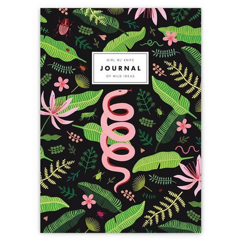 green jungle leaves journal