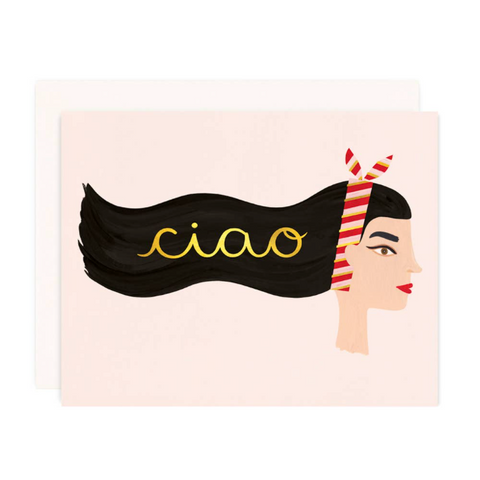 Ciao Greeting Card with Gold Foil