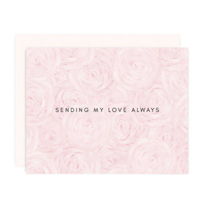 pink peony love greeting card