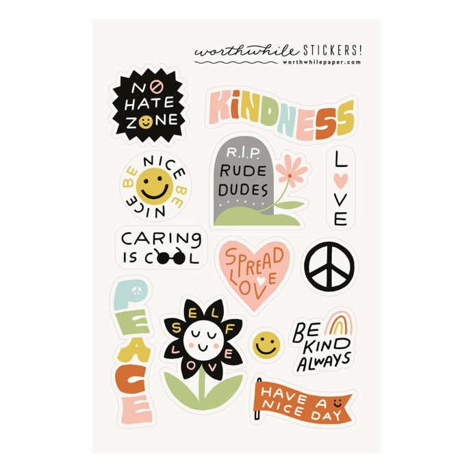 Kindness Sticker Sheets | Set of 2