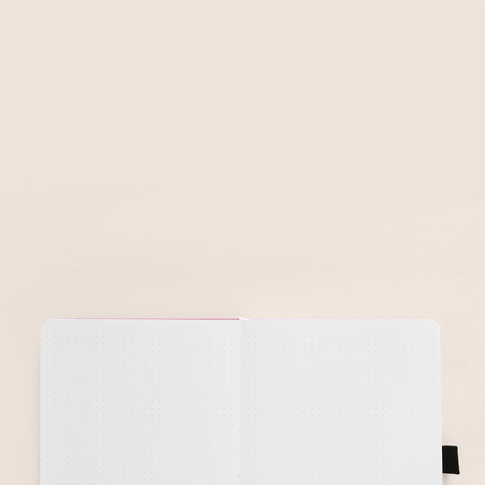 A5 Pink Flowers Signature Dot Grid Notebooks