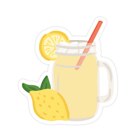 mason jar fresh lemonade sticker