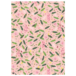 Wildlife Pink Gift Single Wrap Sheet