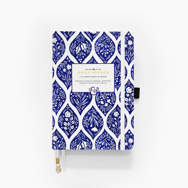 B5 Fleur de Blue Undated Planner Archer and Olive