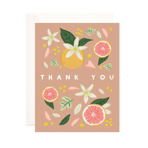 Citrus Thank You Greeting Card
