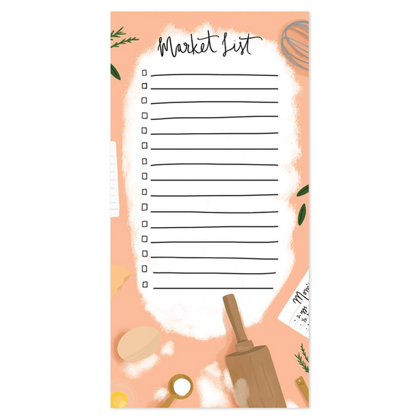 baker market list notepad