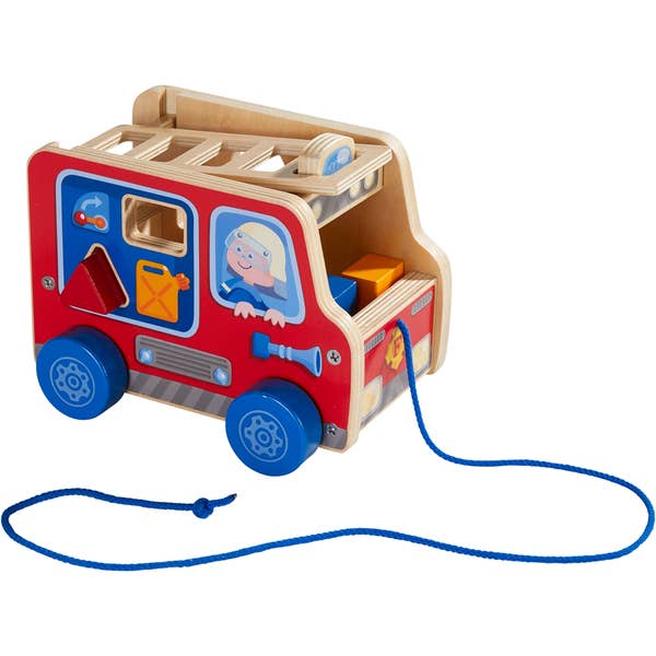 Pulling Figure - Fire Engine-Haba-Joanna's Cuties