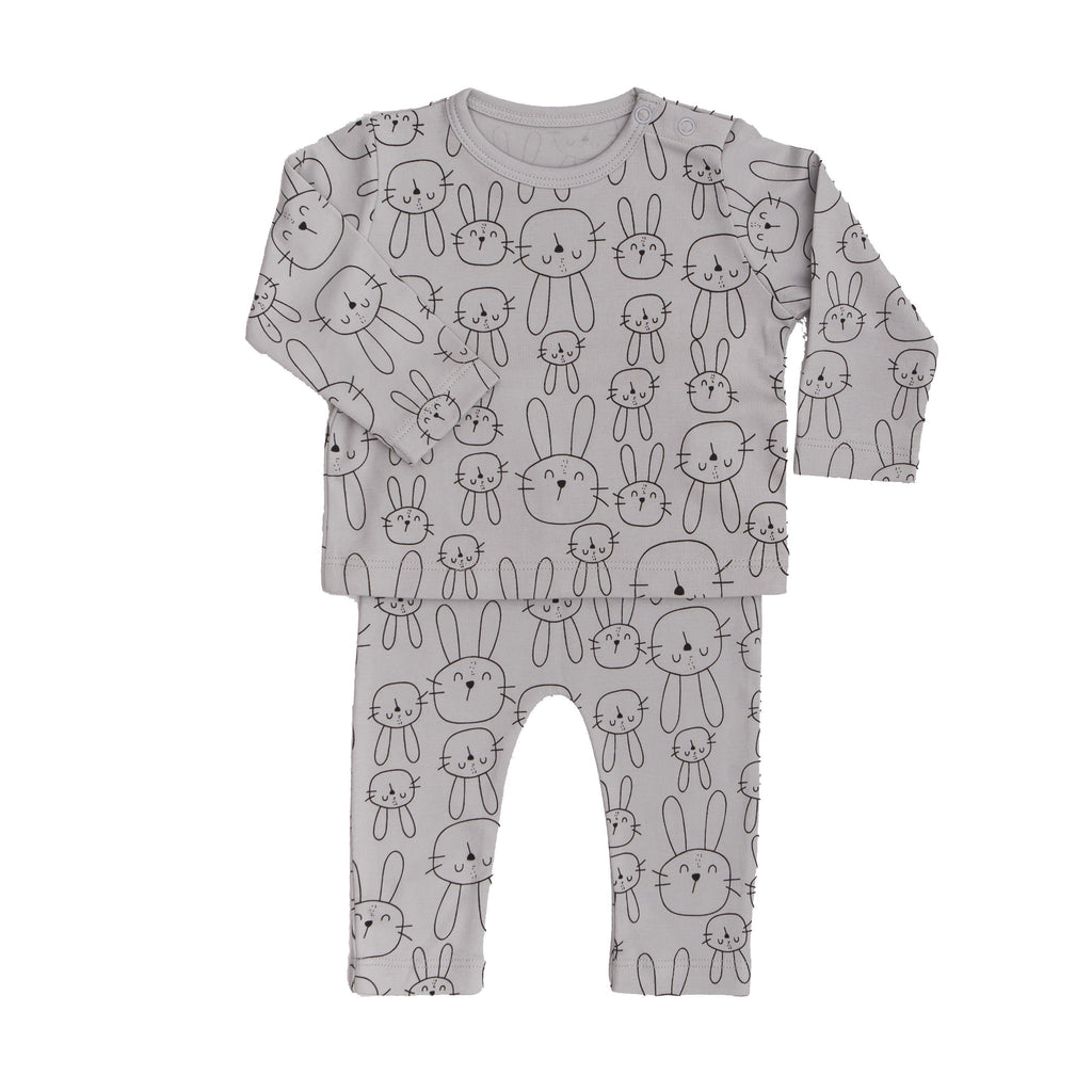 2 pc Set Bunny - Grey-Tun Tun-Joanna's Cuties