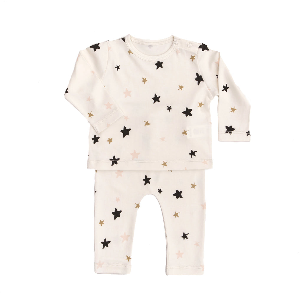 2 pc Set Stars - Cream, Tun Tun - Joanna's Cuties