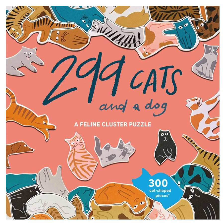 299 Cats (and a dog) - Puzzles-Chronicle Books-Joanna's Cuties