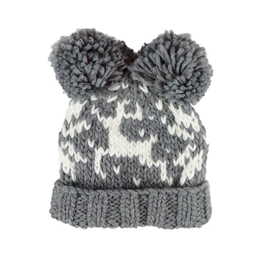 Alex Fair Isle Reindeer Hat - Grey-The Blueberry Hill-Joanna's Cuties