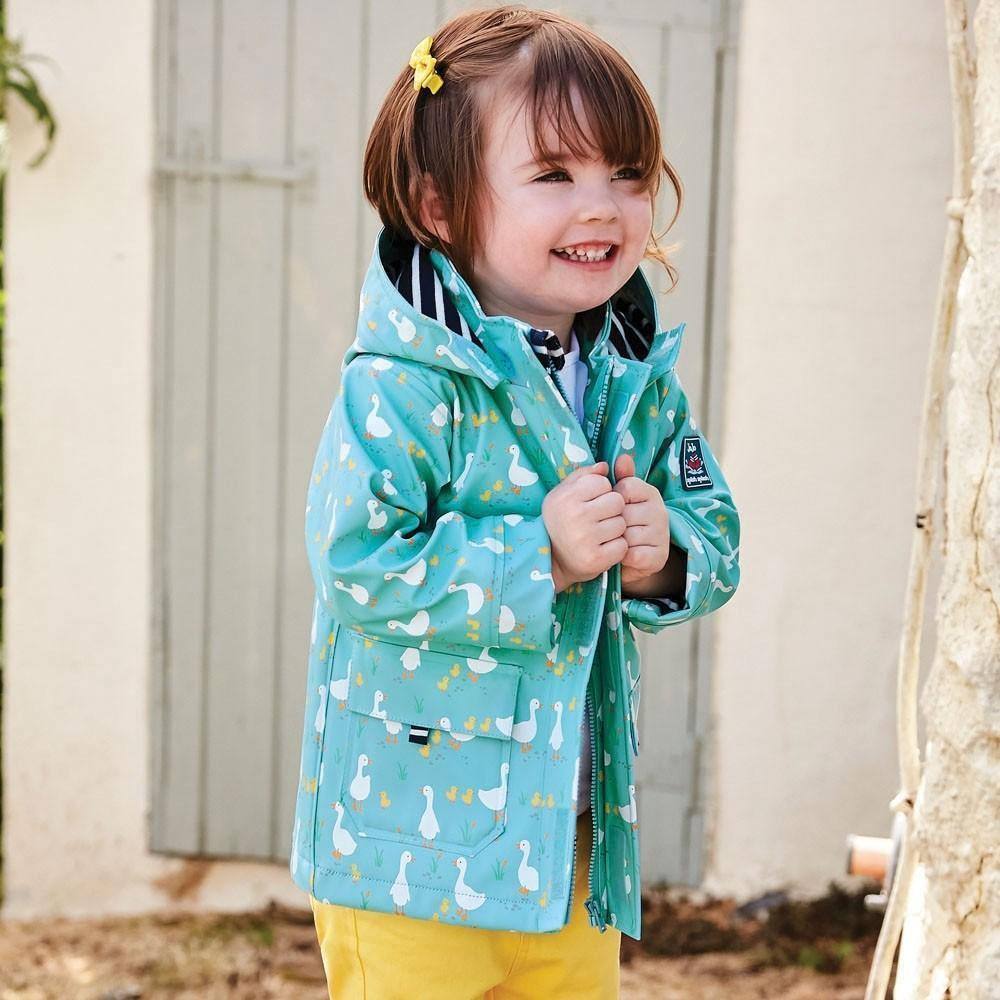 Duck Print Fisherman's Jacket - JoJo Maman Bebe - joannas-cuties