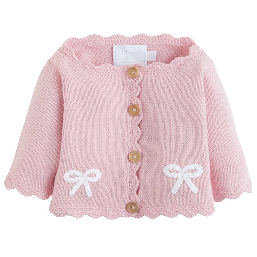 Bow Crochet Sweater - Little English - joannas-cuties