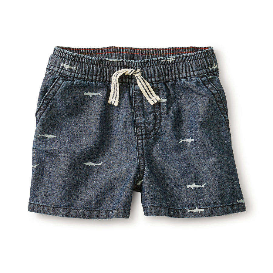 Chambray Discovery Shorts-Tea-Joanna's Cuties
