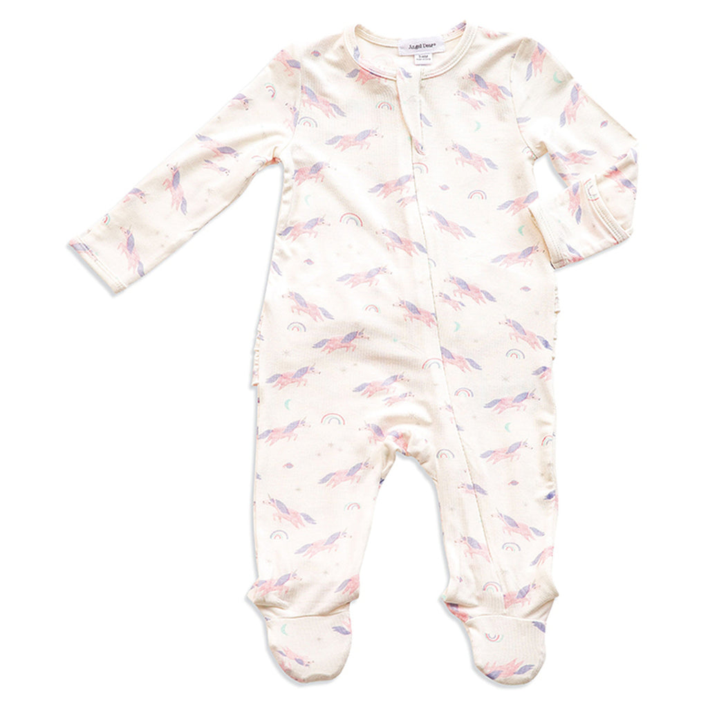 Cosmic Unicorn Zipper Footie - Angel Dear - joannas-cuties