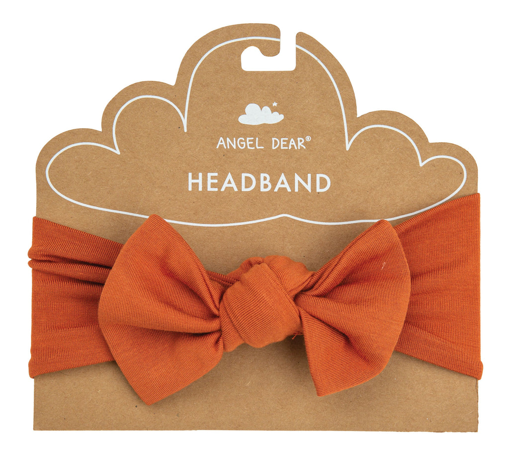 Solid Basic Rust Headband-Angel Dear-Joanna's Cuties