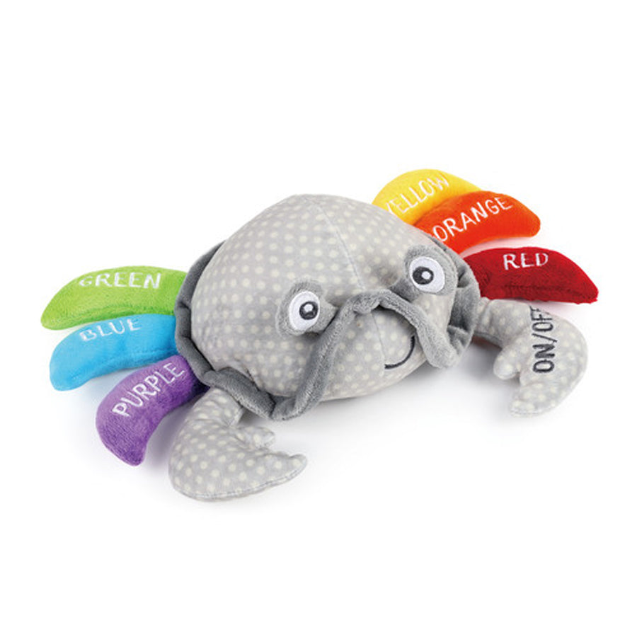 Learning Colors Crab Plush Mechanical Toy-Demdaco-Joanna's Cuties