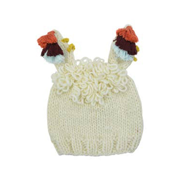 Llama Hat - Cream - The Blueberry Hill - joannas-cuties