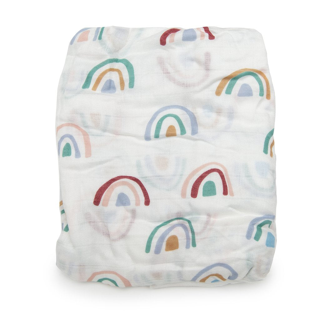 Fitted Crib Sheet - Rainbow-LouLou Lollipop-Joanna's Cuties