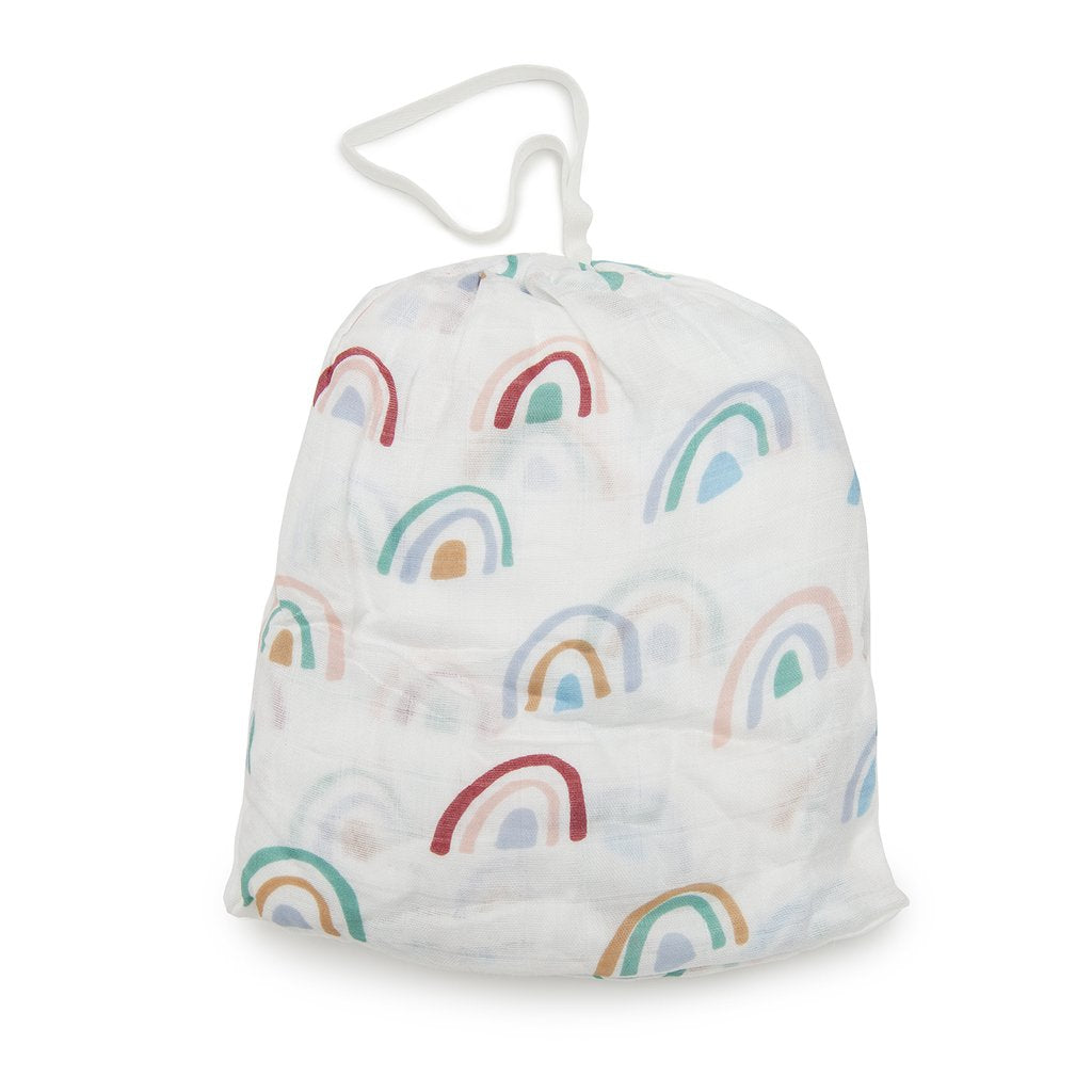 Fitted Crib Sheet - Rainbow - LouLou Lollipop - joannas-cuties
