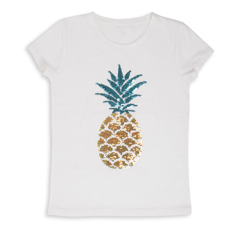 Magic Two-Way Sequins T-shirt - Pineapple - Shade Critters - joannas-cuties
