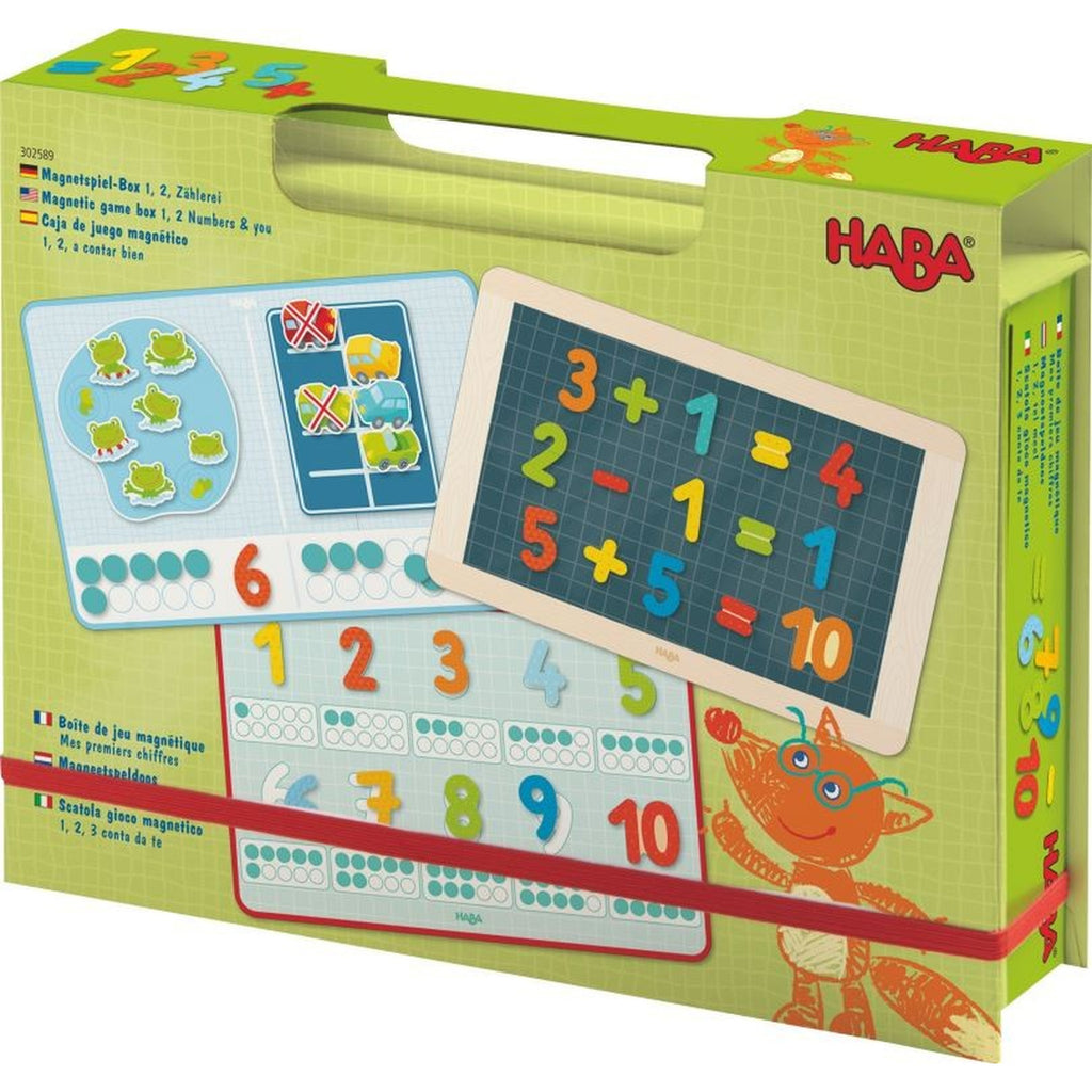 Magnetic Game Box 1, 2 Numbers & You - Haba - joannas-cuties